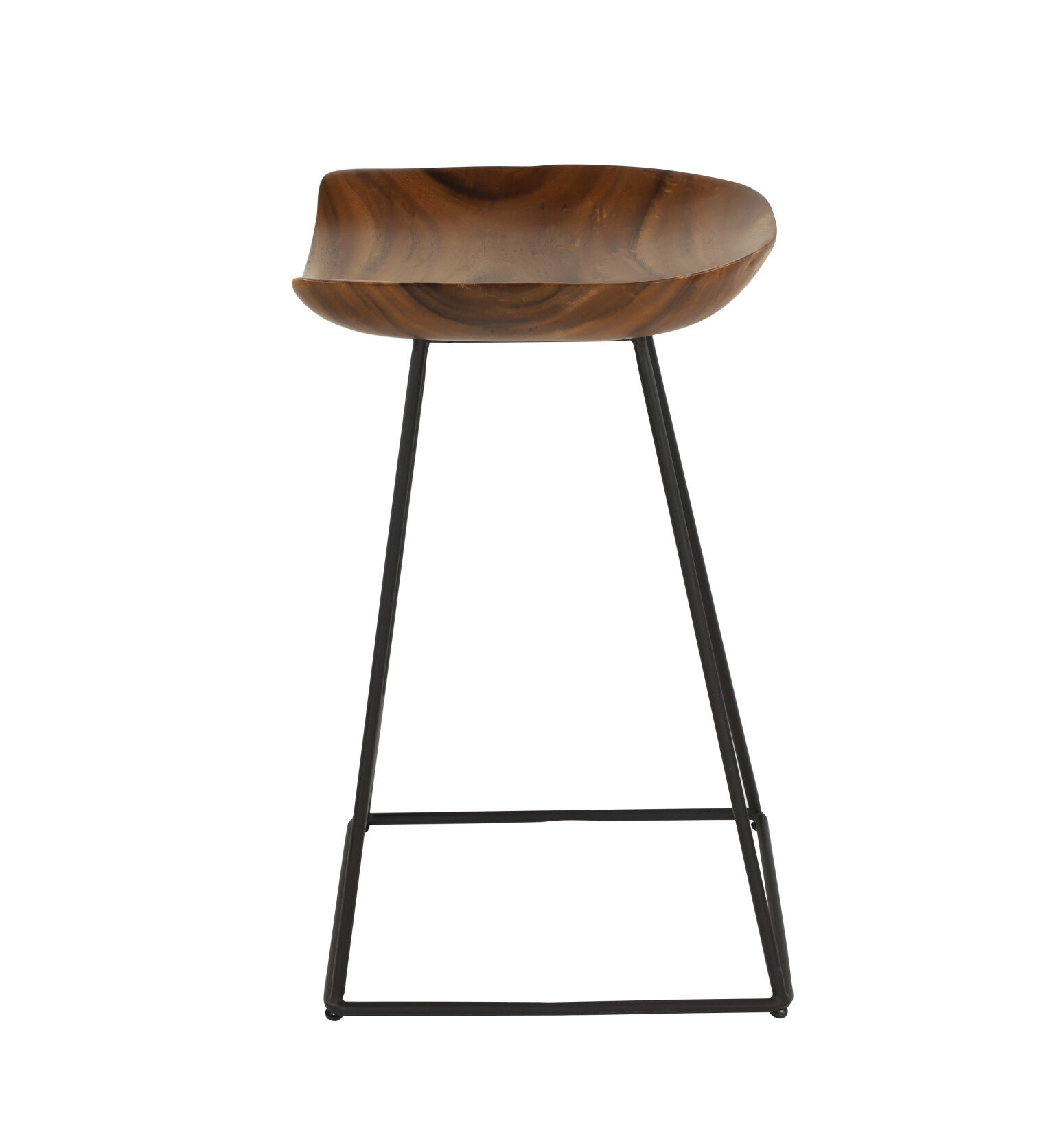 Amazing Foote Small Acacia Wood 24 Bar Stool Pdpeps Interior Chair Design Pdpepsorg