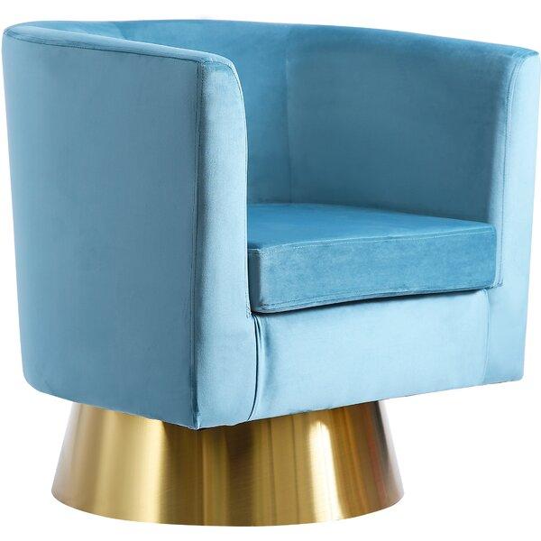 Bernadine Swivel Barrel Chair By Willa Arlo Interiors