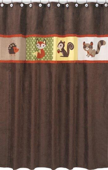 Forest Friends Cotton Shower Curtain by Sweet Jojo Designs