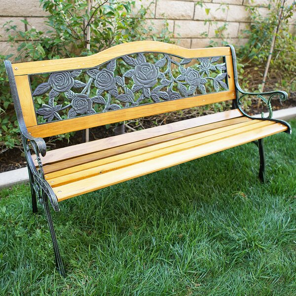 Belleze Teak Garden Bench U0026 Reviews | Wayfair