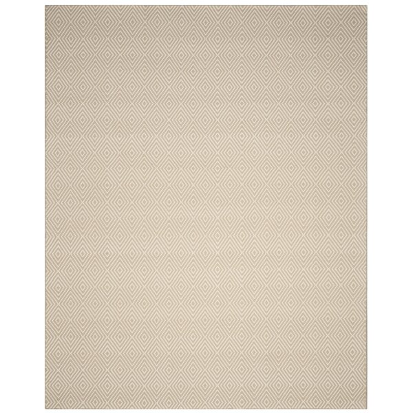Kris Hand-Woven Taupe Area Rug by Birch Lane™
