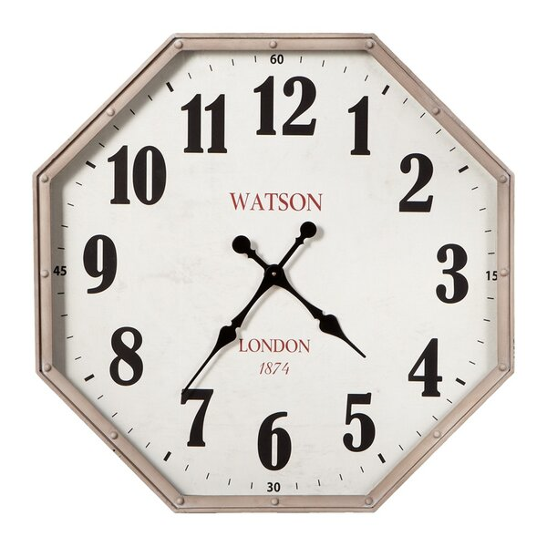 Octagon Analog Wall Clock by 17 Stories