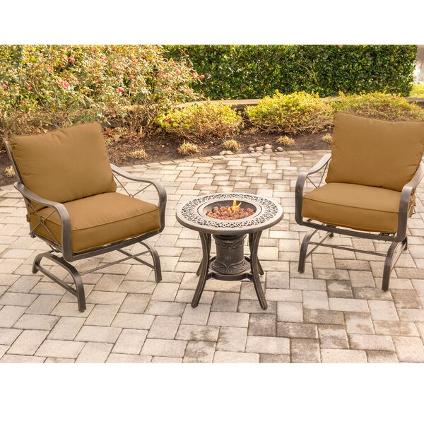 Robertsdale Outdoor 3 Piece Seating Group with Cushions