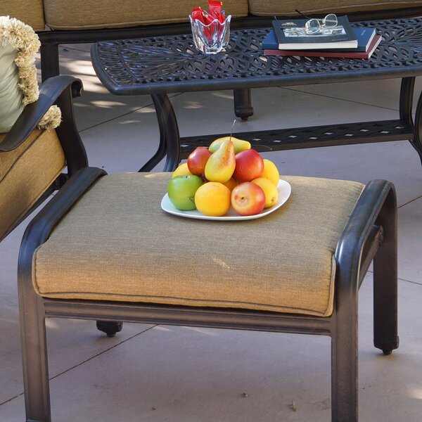 Lebanon Ottoman with Cushion by Three Posts
