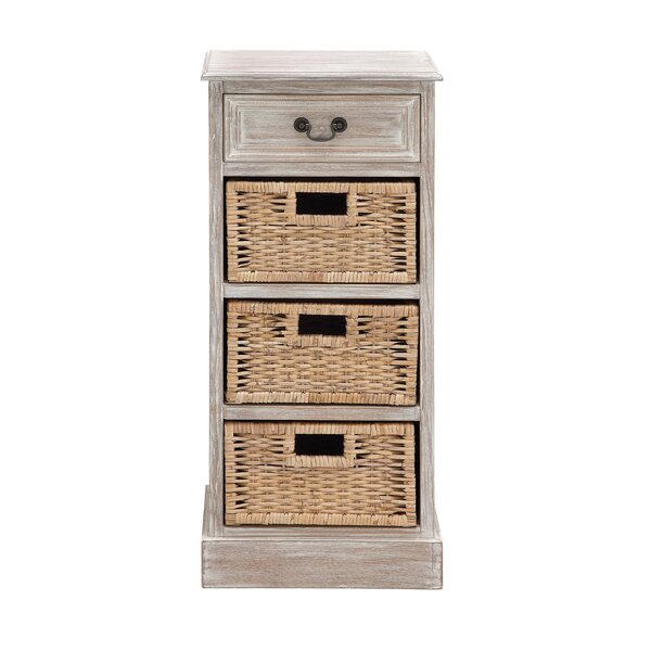 1 Drawer Wood Chest [Cole Grey]