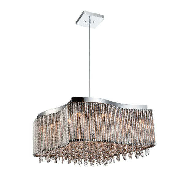 Batty 6 - Light Unique / Statement Rectangle / Square Chandelier By House Of Hampton