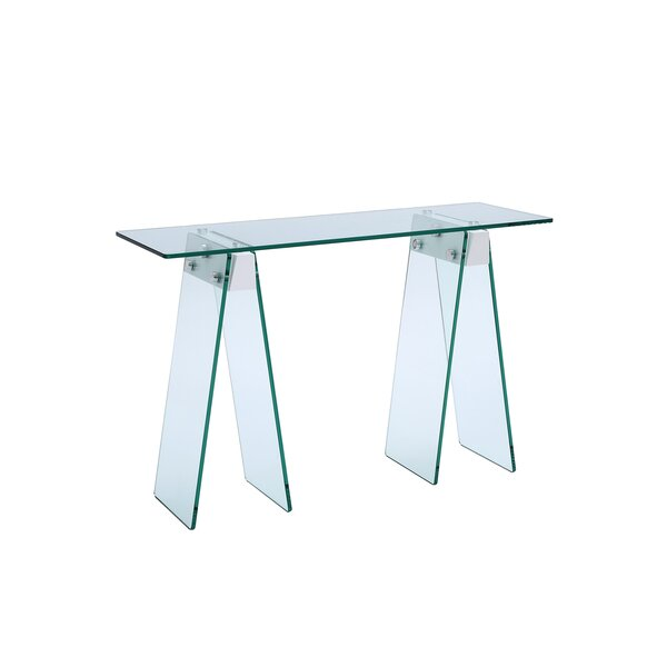 Gumm Glass Console Table By Orren Ellis
