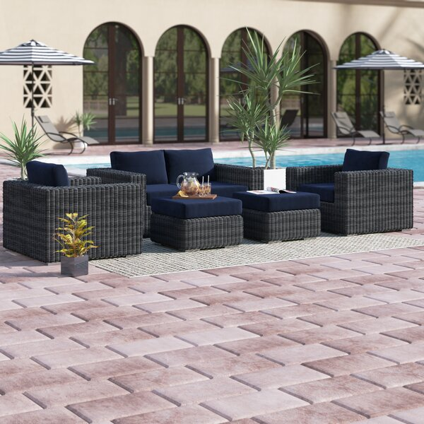 Keiran 5 Piece Sunbrella Sofa Set with Cushions by Brayden Studio