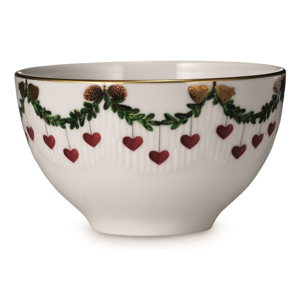 Star Fluted Christmas Chocolate Bowl by Royal Cope