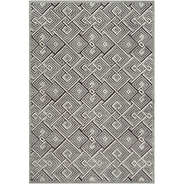 Pugh Modern Geometric Medium Gray Area Rug by Wrought Studio
