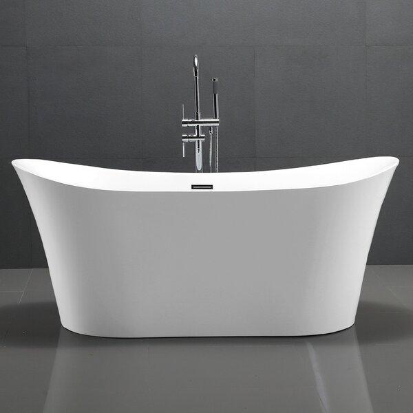 67 x 29 Freestanding Soaking Bathtub by Vanity Art