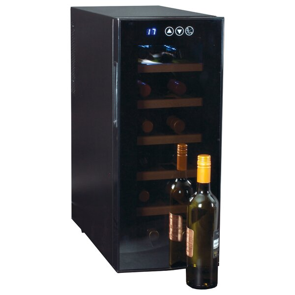 12 Bottle Single Zone Freestanding Wine Refrigerator By Koolatron