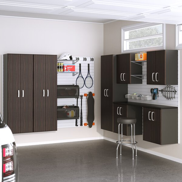 Deluxe Workstation 96 H x 192 W x 20 D 8 Piece Storage Cabinet Set by Flow Wall