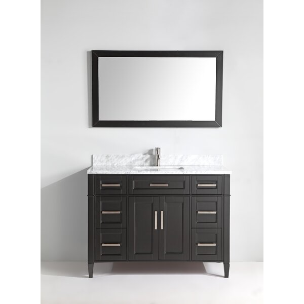 Lachine Marble 48 Single Bathroom Vanity with Mirror by Gracie Oaks
