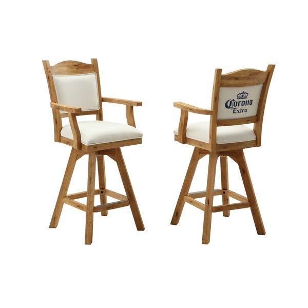 Corona 48 Swivel Bar Stool (Set of 2) by ECI Furniture