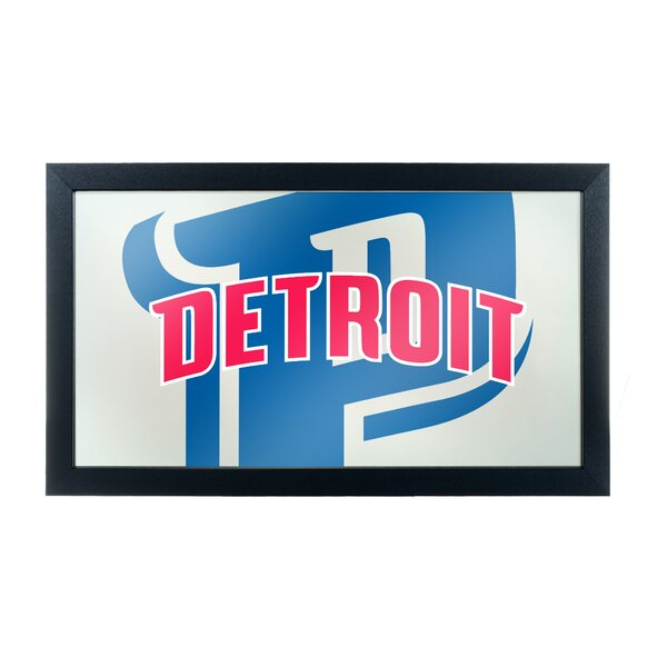 NBA Fade Framed Logo Accent Mirror by Trademark Global