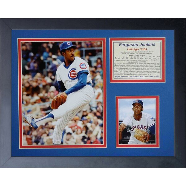 Ferguson Jenkins Framed Memorabilia by Legends Never Die