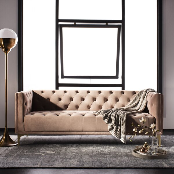 Enoch Chesterfield Sofa by Everly Quinn