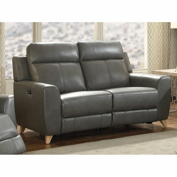 Check Price Aleira Genuine Leather Reclining 68