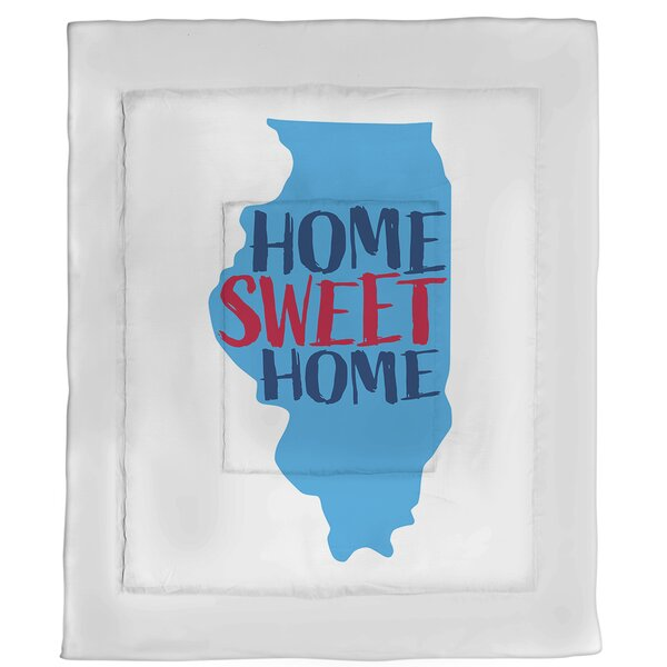 Home Sweet Illinois Single Reversible Comforter