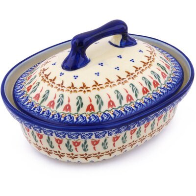 Polish Pottery Baker with Cover by Polmedia