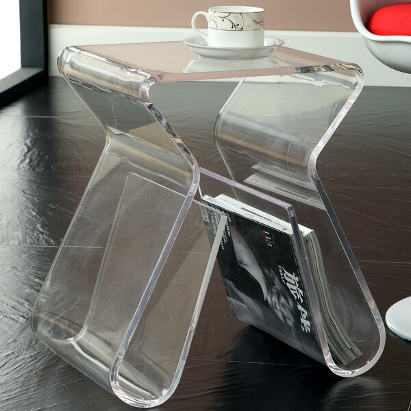 Magazine End Table by Modway
