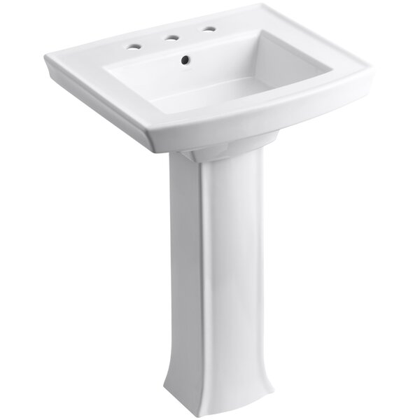 Archer Vitreous China 24 Pedestal Bathroom Sink by