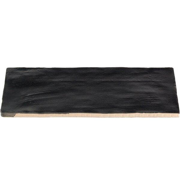 Amagansett 2 x 8 Ceramic Subway Tile in Black by Splashback Tile