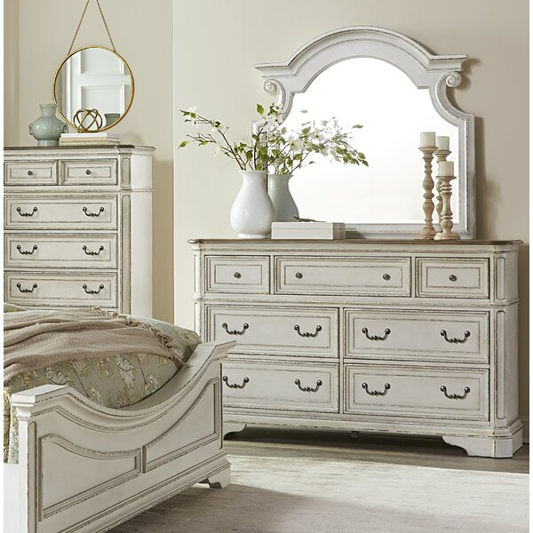 Castleford 7 Drawer Dresser with Mirror by Lark Manor