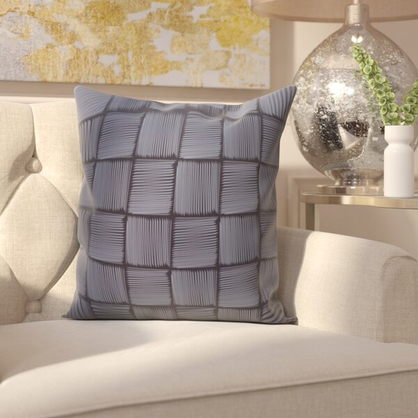 Parsons Basketweave Geometric Print  OutdoorThrow Pillow by House of Hampton