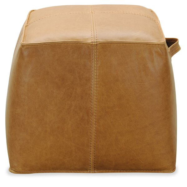 Birks Leather Pouf by Hooker Furniture Hooker Furniture