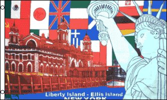 Liberty Island Traditional Flag by Flags Importer