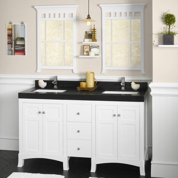 Hampton 60 Double Bathroom Vanity Set with Mirror by Ronbow