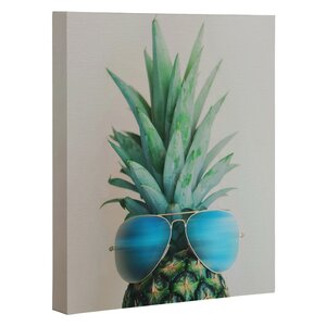 Pineapple in Paradise Wall Art on Canvas by East Urban Home
