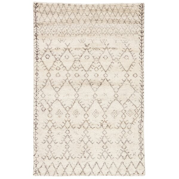 Esben Hand Knotted Wool Ivory/Brown Area Rug by Jaipur Living