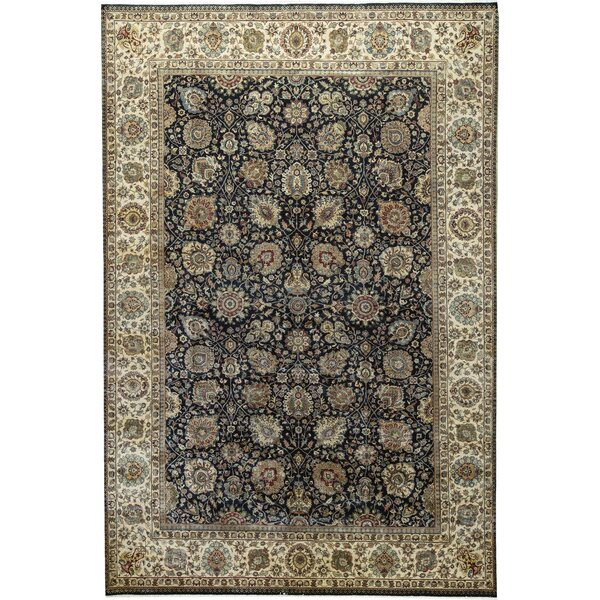 One-of-a-Kind Sona Hand-Knotted Blue/Beige 11'11 x 17'5 Wool Area Rug