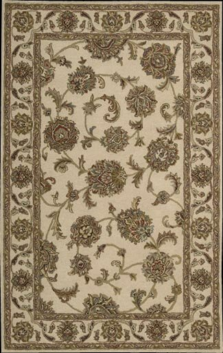 Cortese Hand-Woven Ivory/Brown Area Rug by Charlton Home