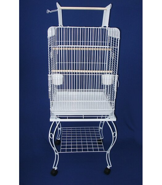 Play Top Parrot Bird Cage with Stand by YML