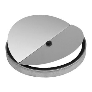 Round Damper for Range Hoods and Bath Ventilation Fans