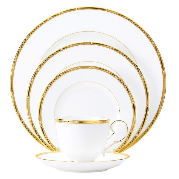 Rochelle Gold Bone China 5 Piece Place Setting, Service for 1 by Noritake