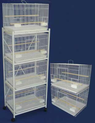 Six Small Bird Cage with 2 Feeder Doors by YML
