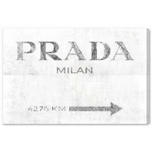 Milan Pure Textual Art on Wrapped Canvas by Mercer41