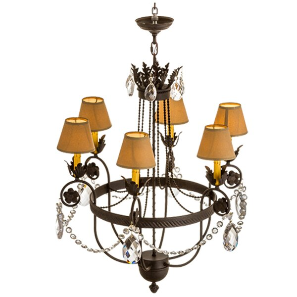 Telfair 6 - Light Shaded Empire Chandelier by Astoria Grand Astoria Grand