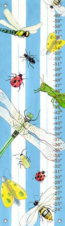 Bugs and Stripes Growth Chart by Oopsy Daisy