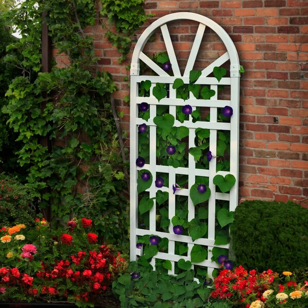Hamilton Vinyl Arched Trellis by New England Arbors
