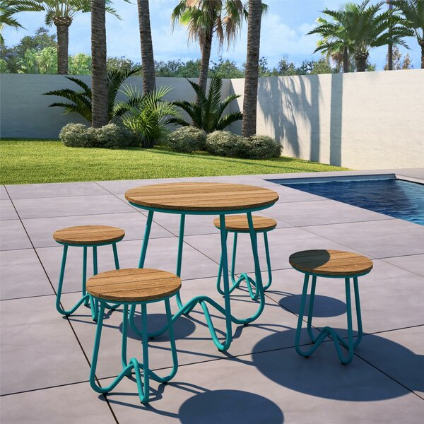 Bobbi Outdoor 5 Piece Bistro Set By Novogratz