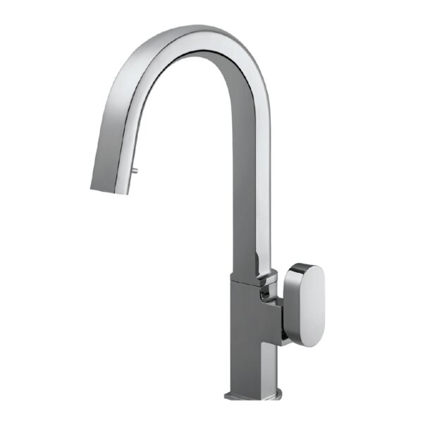 Azura Hidden Pull Down Single Handle Kitchen Faucet by Houzer