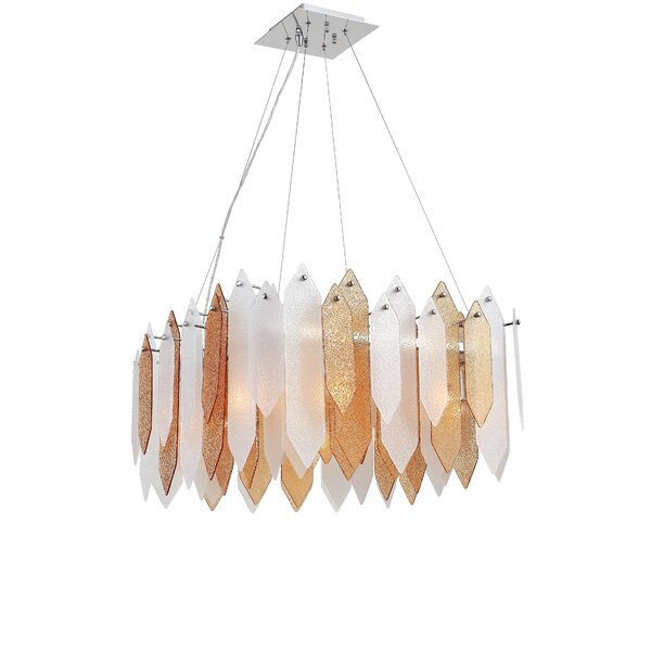 Hakes 8 - Light Shaded Drum Chandelier By Mercer41