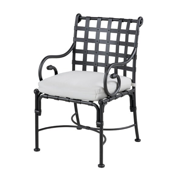 Aikens Patio Dining Chair with Cushion by One Allium Way
