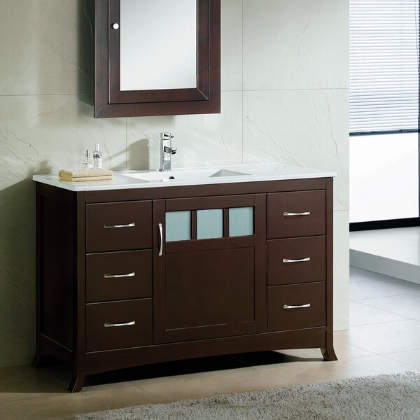 Rettig Contemporary 48 Single Bathroom Vanity Set by Latitude Run